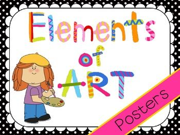 Mini posters that represent the Elements of Art. This product includes posters with Elements (line, form, shape, space, color, value, and texture), definitions, and art terms commonly used with each element.If you like this check out my editable Principles of Art posters!