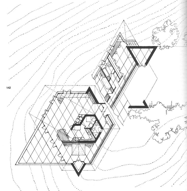 96 best images about frank lloyd wright architect on for Honeycomb house floor plan
