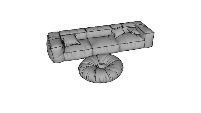 Large preview of 3D Model of armchair
