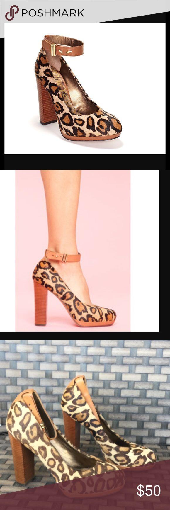 Sam Edelman Lyla cheetah heel Like new Sam Edelman Shoes Heels