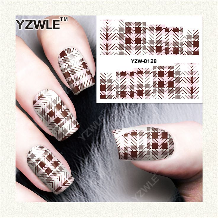 YZWLE  1 Sheet DIY Designer Water Transfer Nails Art Sticker / Nail Water Decals / Nail Stickers Accessories (YZW-8128)