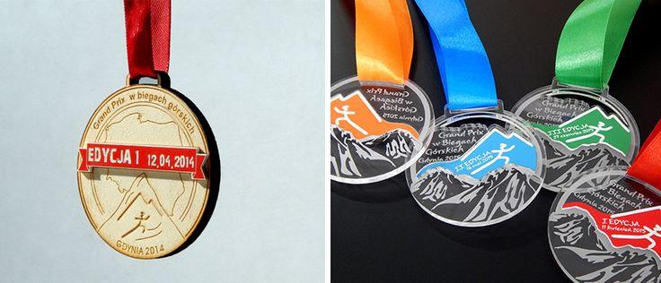 Po raz drugi wykonaliśmy medale sportowe na Grand Prix w biegach górskich w Gdyni.