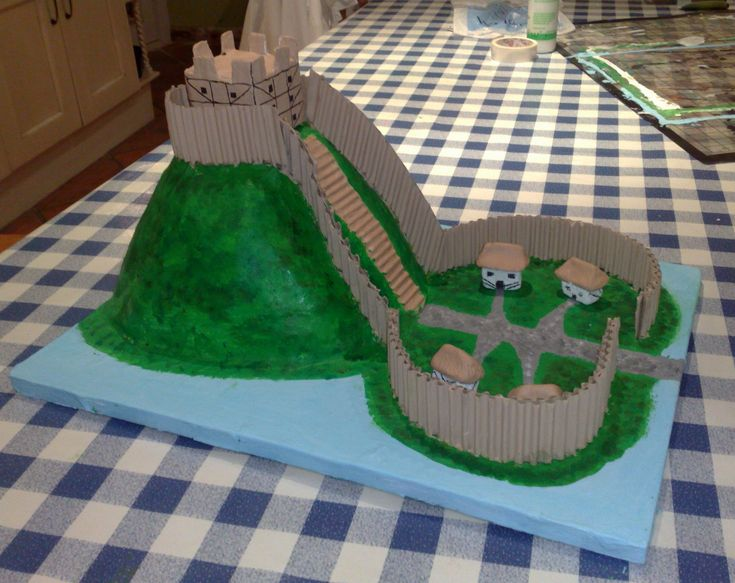 Image result for how to build a motte and bailey castle for a school project