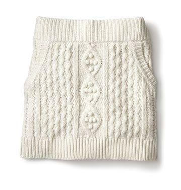 Kinit Skirt inspiration. Remember to do pockets. Fancy - Cable Knit Skirt | Skirts | Women | Joe Fresh