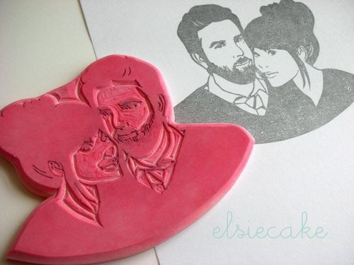 @morganmiller. Custom rubber stamp from Kozue on Etsy. This is wonderful! Would be perfect for invitations, thank you cards, etc.