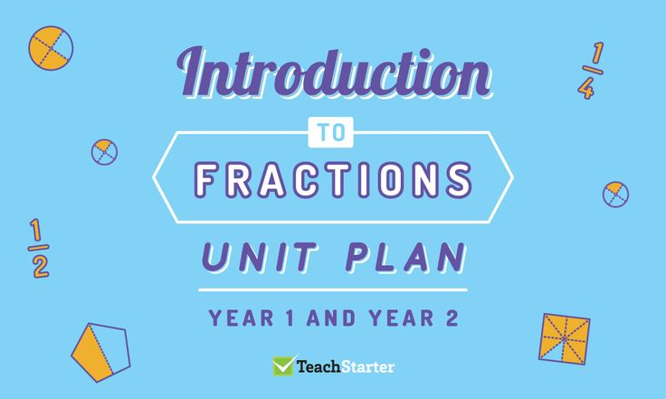 Introduction to Fractions Unit Plan - Year 1 and Year 2