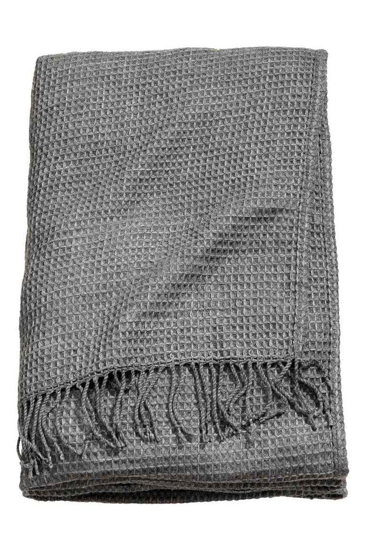 Jeté de lit gaufré: Jeté de lit simple en tissu de coton mélangé souple à…