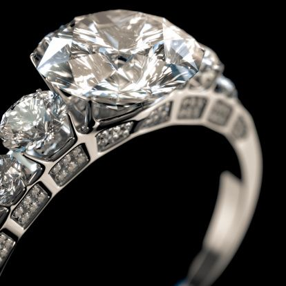 Unique  MakeItYourRing Diamond Engagement Ring Hipster