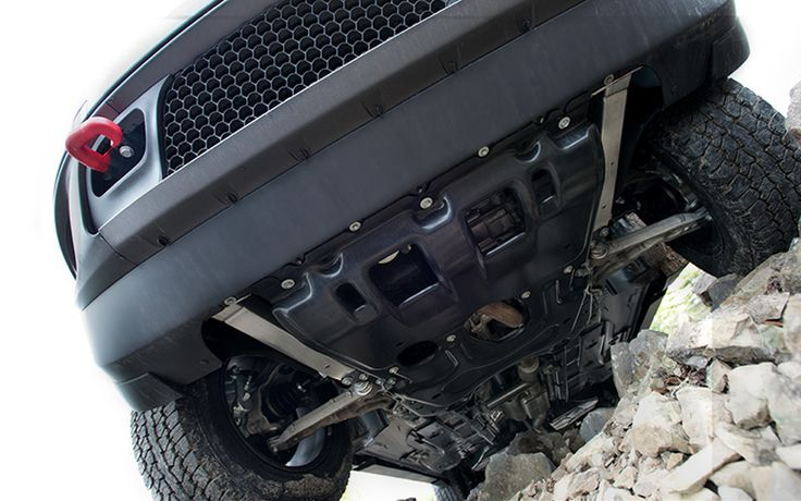 Jeep - 2014 Jeep Cherokee - Jeep® Cherokee Trailhawk® features skid plates to help protect its vital underbody components when off-roading+, similar to gladiators that use body armor when going into battle.
