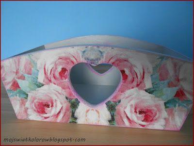 Mój świat kolorów...: Skrzyneczka z sercem...