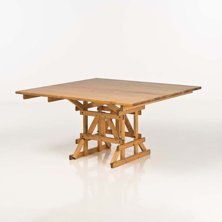 Enzo Mari; Pine 'Autoprogettazione' Table, 1974.