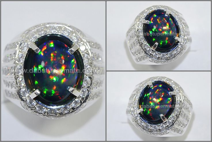 Sparkling Fire Panca Warna Black OPAL/KALIMAYA Crystal Top - OP 035