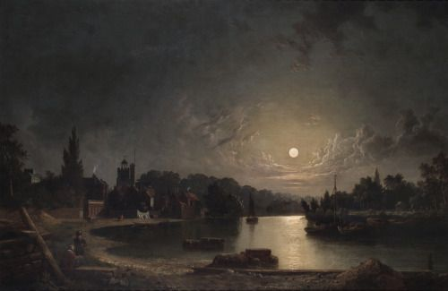 chanson de geste — oldoils:   Twickenham, Middlesex, by Moonlight -...