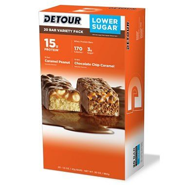 Detour Lower Sugar Protein Bar, Variety Pack (1.5 oz., 20 count.) - 2 PACK