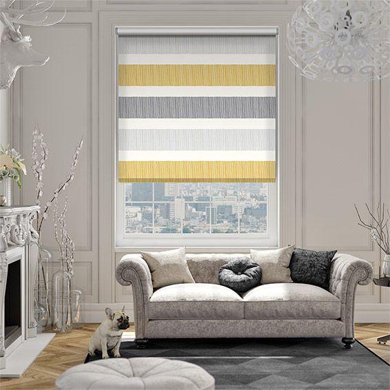 Beautiful Cardigan Stripe Flax Grey Roller Blind K che Ideen