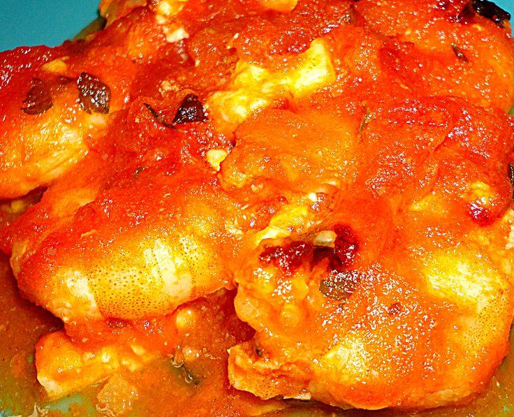 Recette - Crevettes roses Saganaki