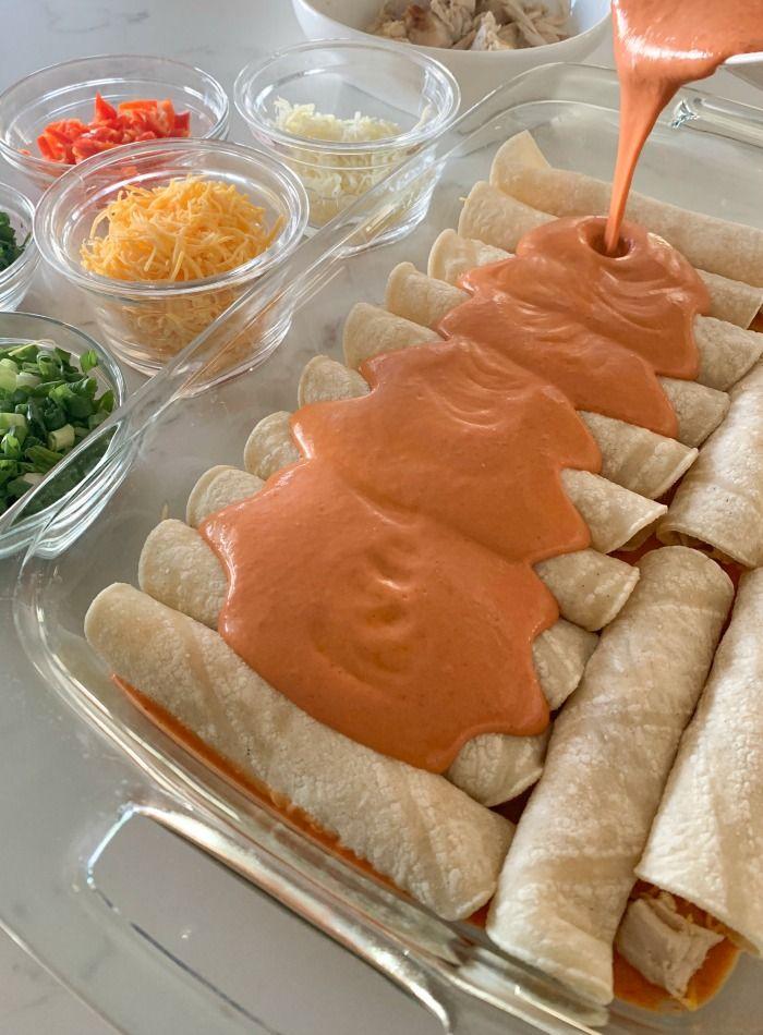 Weeknight Chicken Enchiladas Recipe School Pinterest Mexican