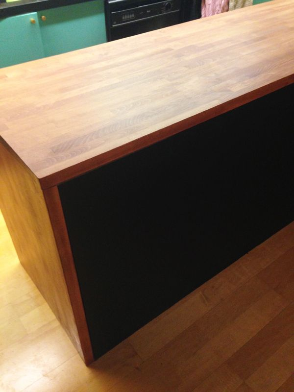 kitchen countertop diy stained with rubio monocoat