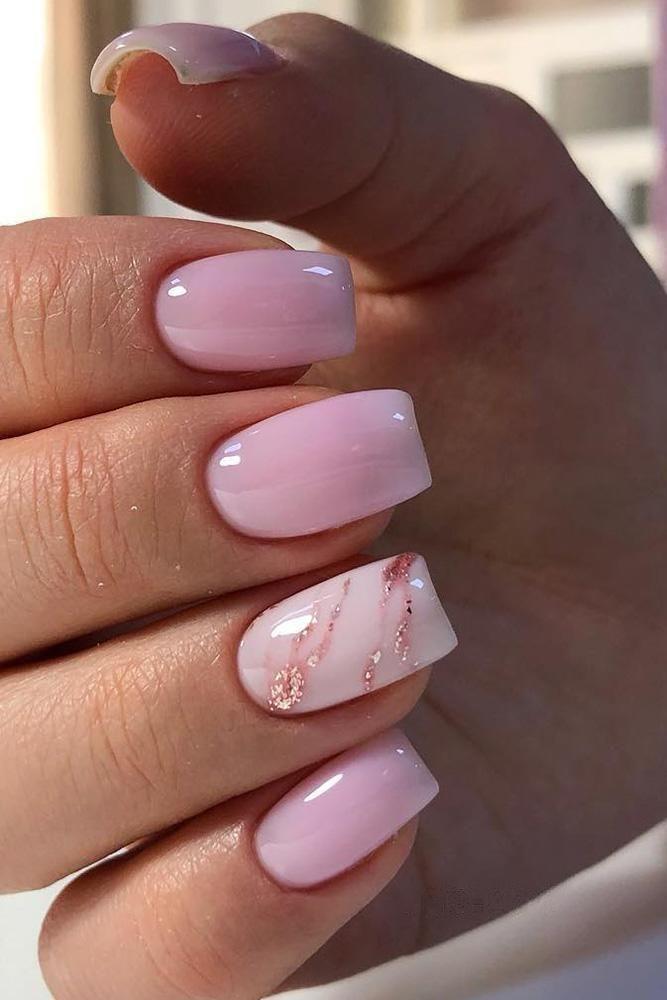 30 Cute Nail Design Ideas For Stylish Brides Wedding Forward Pinknails In 2020 Short Acrylic Nails Designs Pink Ombre Nails Short Acrylic Nails