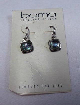 Dangle Earrings with Abalone