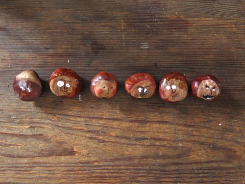 Petits bricolages avec des marrons