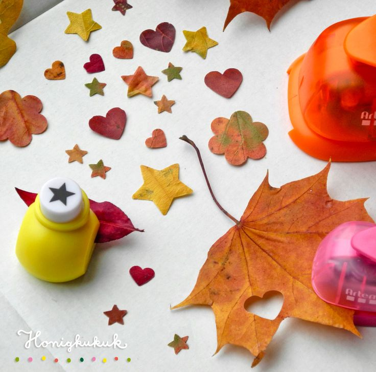 Herbstkonfetti aus bunten Blättern
