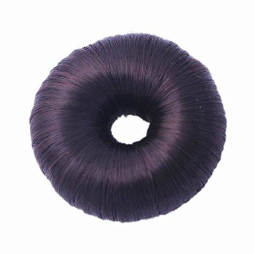 YABINA 5 Colors Round Girls Women Donut Hairpiece Hair Band Rope Coil Updo Maker Stretchy Hair Accessories ColorC *** Click on the image for additional details.