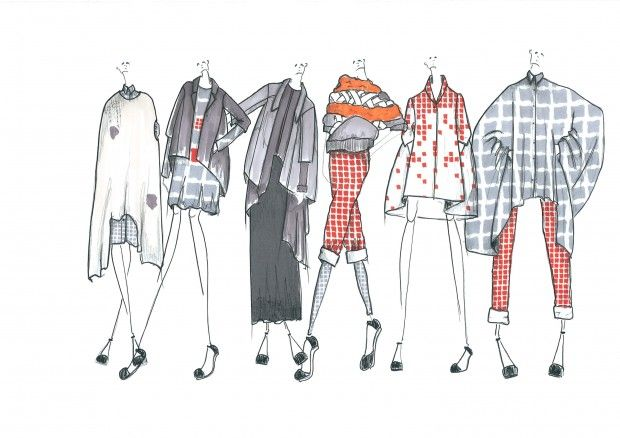 Fashion Sketchbook - fashion drawings; final line up; fashion illustrations; fashion portfolio // Gemma Jackman