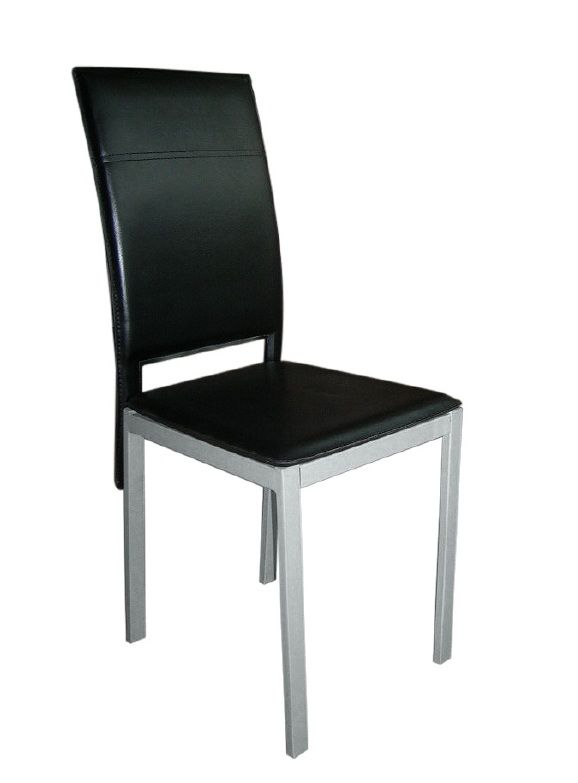 Silla Osaka: Silla extructura metálica con recubrimiento epoxi-poliester. Tapizado en PVC. Colores disponibles negro . Patas con conteras de plástico antirrayado.