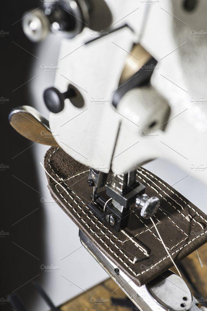 Sewing leather by Deyan Georgiev  on @creativemarket