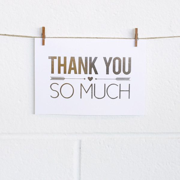 'So Much Thanks' Silver Foil on White, Thank You Cards, 10pk