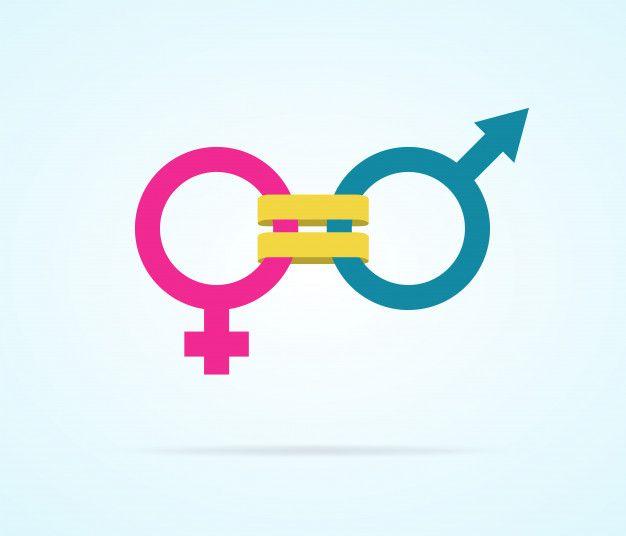 Concept Of Gender Equality With Gender S Premium Vector Freepik Vector Love Gender Equality Equality Gender