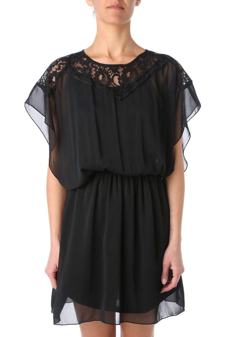 Robe noire à dentelles #robe #dress #lace #black #noir #look