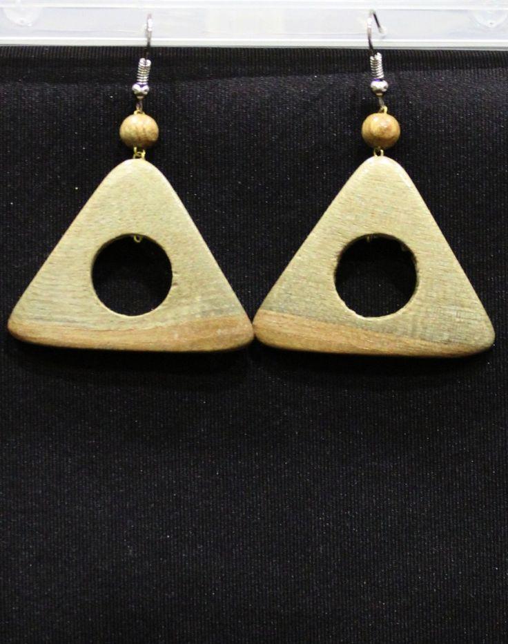 Треугольные серьги болотного оттенка вср436