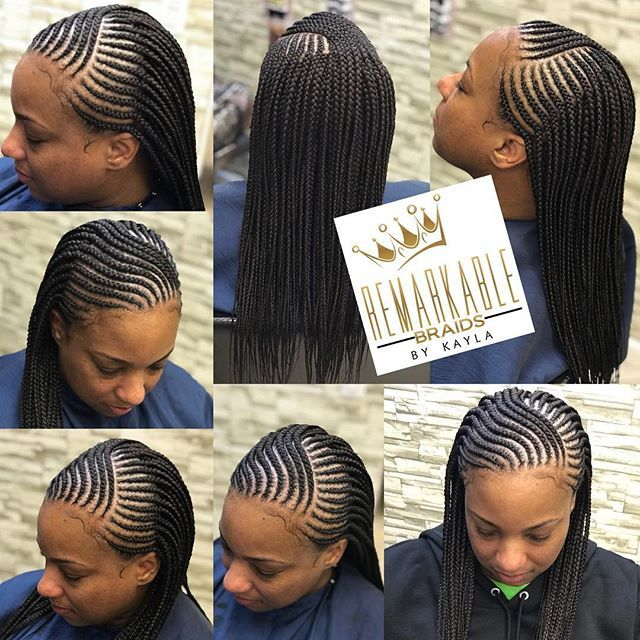 Feed In Cornrows In From With Singles In The Back Mid Back Likeforlike Braidsinari Braided Hairstyles Cute Braided Hairstyles African Braids Hairstyles