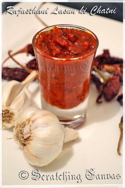 Rajasthani Lahsun ki Chutney : Chilli Garlic Dip