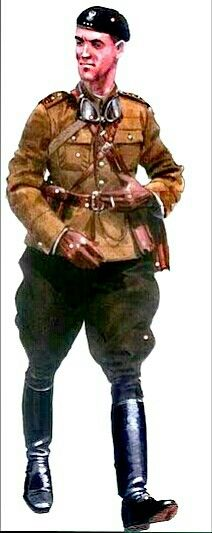 Polish Army 1939, motorized troops, Captain - pin by Paolo Marzioli
