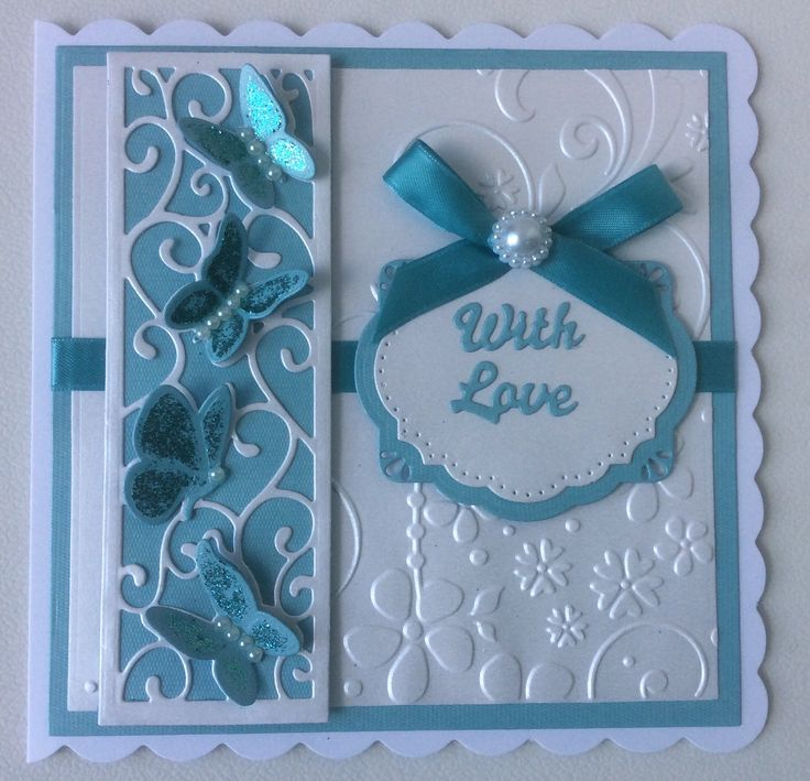 Sue Wilson mini striplet - Butterflies in flight. Centre of SW Stockholm die.  Crafts-Too Summer Days embossing folder.