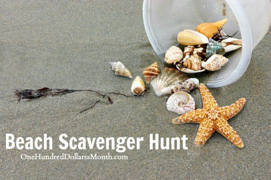 Fun Stuff For Kids to Do - Beach Scavenger Hunt