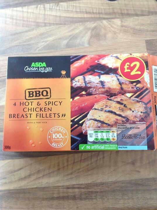 asda's chosen by you hot & spicy chicken breast fillets - syn free.