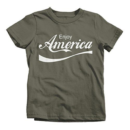 Shirts By Sarah Youth Boy's Girl's Enjoy America Patriotic T-Shirts 4th July Shirts