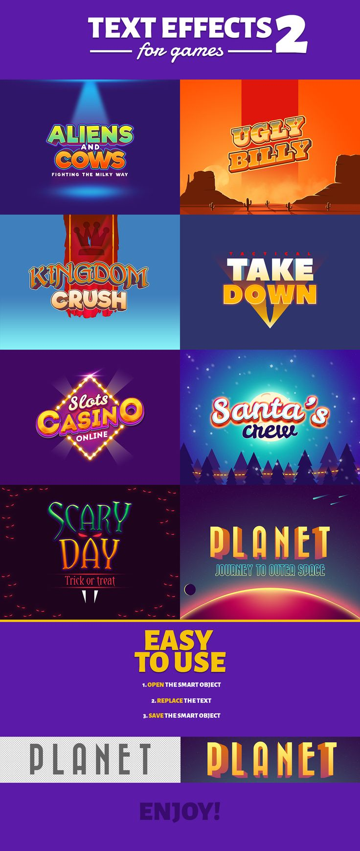 Text Effects For Games 2 on Behance