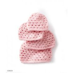 A soft hat for baby, Baby's First Cluster hat is crocheted in Caron Simply Soft. A beginner pattern, perfect to stitch for Preemies and Newborns. | Yarnspirations| Free Beginner Crochet Baby's Hat Pattern