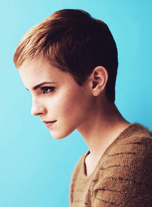 Pixie haircut back emma watson
