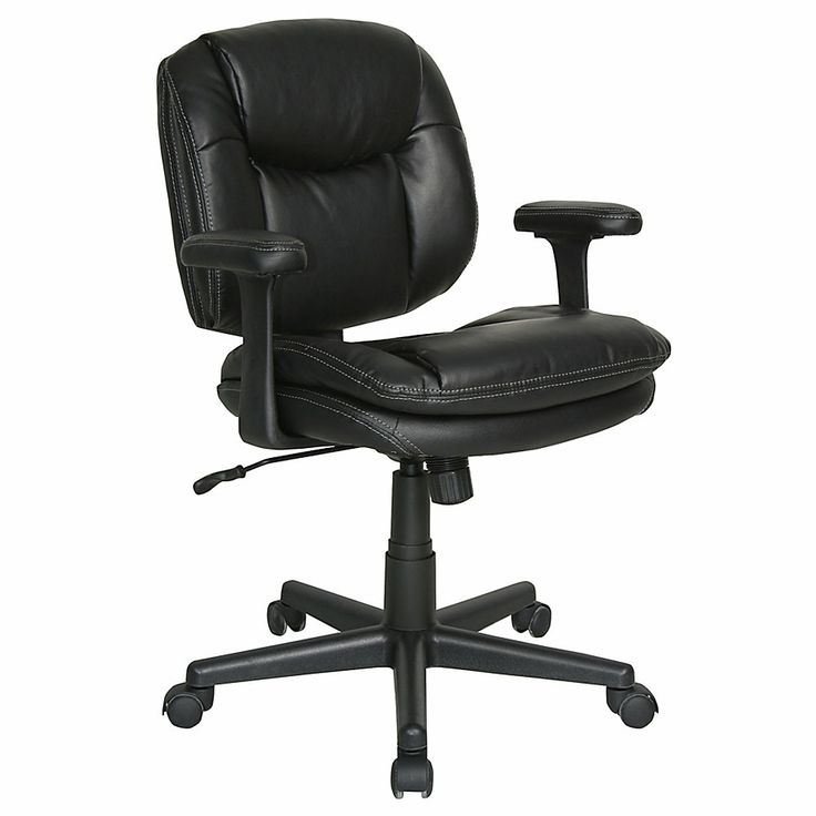 Realspace Dorra Bonded Leather Task Chair 37 25 H X 26 25 W X 27 25 D Black B