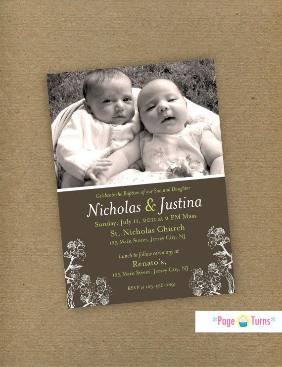 17 best Baptism ideas images on Pinterest Baptism ideas - sample baptismal invitation for twins