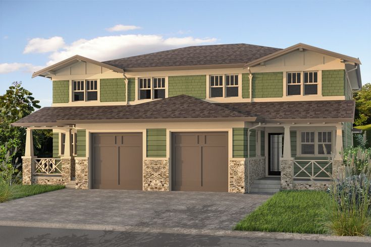 Craftsman duplex house plan duplex fourplex plans for Modern fourplex designs