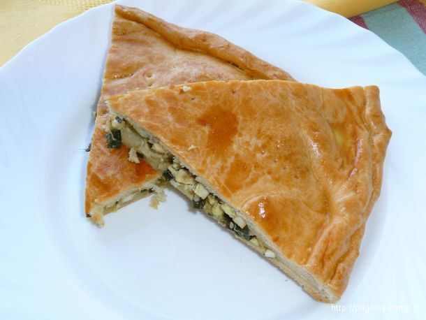 Пирог с зеленым луком и яйцом - тает во рту!