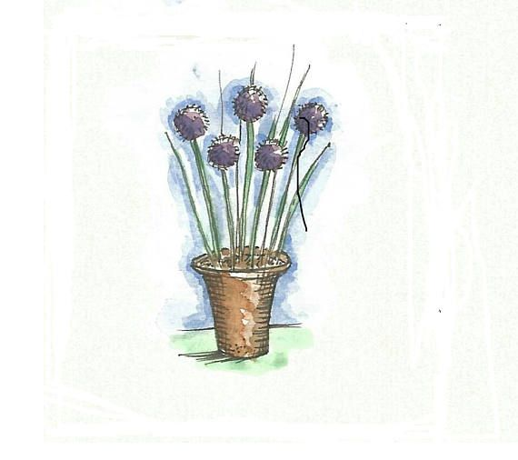 Check out this item in my Etsy shop https://www.etsy.com/uk/listing/515987026/chives-garden-art-downloadable-garden