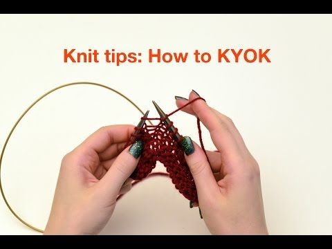 (2) Knit Tips: KYOK increases - YouTube